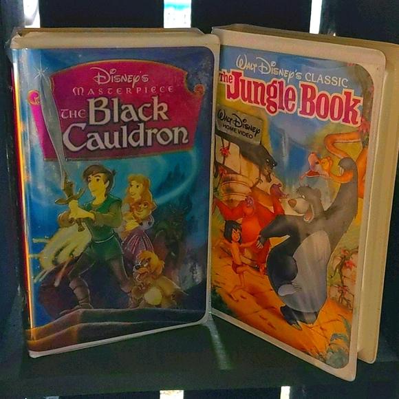 VHS 2pk The Black Cauldron & The Jungle Book